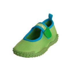 Playshoes  Buty do wody Aqua + UV50+ zielony. Niebieskie buciki niemowlęce chłopięce marki Born2be, z materiału, z okrągłym noskiem, na obcasie. Za 59,00 zł.