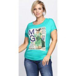 T-shirty damskie: Zielony T-shirt Solitary