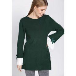 Zielona Bluzka Nether. Zielone bluzki asymetryczne Born2be, l, z długim rękawem. Za 79,99 zł.