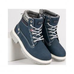 Buty dziecięce traperki granatowe r. 33. Szare buciki niemowlęce American CLUB, na zimę. Za 151,12 zł.