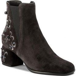 Botki BALDININI - 818005P63RCRUS0010 Crosta Grigio. Szare buty zimowe damskie Baldinini, z materiału. W wyprzedaży za 1289,00 zł.