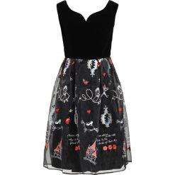 Sukienki hiszpanki: Derhy BERCEUSE  Sukienka koktajlowa noir