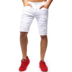 Spodenki i szorty męskie: Spodenki męskie jeansowe białe (sx0677)