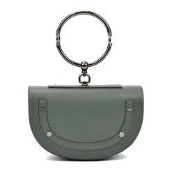 Torebki klasyczne damskie: Skórzana torebka w kolorze zielonym – (S)15 x (W)23 x (G)5 cm