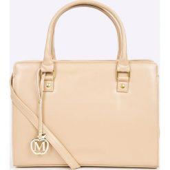 Manzana - Torebka. Szare torebki klasyczne damskie marki Manzana, w paski, z materiału, duże. W wyprzedaży za 129,90 zł.