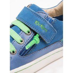 Kickers LYPSTER Tenisówki i Trampki bleu vert. Niebieskie tenisówki męskie marki Kickers, z kauczuku, na sznurówki. Za 369,00 zł.