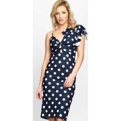 Granatowa Sukienka Retro Woman. Niebieskie sukienki letnie marki Born2be, s, retro. Za 79,99 zł.