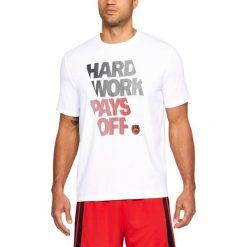 Koszulki sportowe męskie: Under Armour Koszulka męska UA BBall Hard Work SS biała r. L (1305713-100)