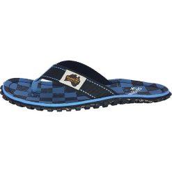 Gumbies - Japonki Islander Blue Checker. Niebieskie japonki męskie Gumbies, z bawełny. W wyprzedaży za 79,90 zł.
