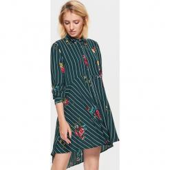 Sukienka oversize w kwiaty - Khaki. Brązowe sukienki marki Cropp, l, w kwiaty, oversize. Za 79,99 zł.