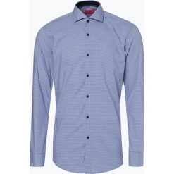 HUGO - Koszula męska łatwa w prasowaniu – Kery, niebieski. Niebieskie koszule męskie non-iron marki HUGO, m, w kratkę, z klasycznym kołnierzykiem. Za 349,95 zł.
