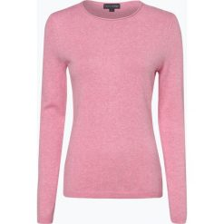 Franco Callegari - Sweter damski z dodatkiem kaszmiru, różowy. Zielone swetry klasyczne damskie marki Franco Callegari, z napisami. Za 229,95 zł.