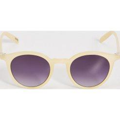 Okulary przeciwsłoneczne damskie: Okulary przeciwsłoneczne – Żółty
