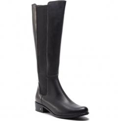 Oficerki SERGIO BARDI - Sopra FW1273532118CC 101. Czarne buty zimowe damskie Sergio Bardi, z materiału, przed kolano, na wysokim obcasie. Za 449,00 zł.