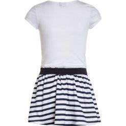 Sukienki dziewczęce z falbanami: 3 Pommes BLUE LOVE DRESS SHORT SLEEVES Sukienka z dżerseju white