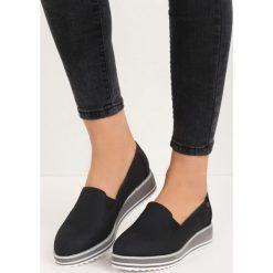 Trampki damskie slip on: Czarne Slip On Lean