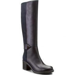 Kozaki ANN MEX - 7600 05S+05W Granat. Niebieskie buty zimowe damskie Ann Mex, ze skóry, przed kolano, na wysokim obcasie, na obcasie. W wyprzedaży za 369,00 zł.