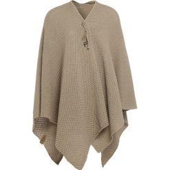 """Swetry damskie: Ponczo """"Jazz"""" w kolorze oliwkowym – 160 x 130 cm"""