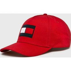 Tommy Hilfiger - Czapka. Czerwone czapki z daszkiem męskie TOMMY HILFIGER. Za 159,90 zł.