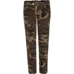 Sisley Jeansy Slim Fit khaki. Brązowe spodnie chłopięce Sisley, z bawełny. W wyprzedaży za 126,75 zł.