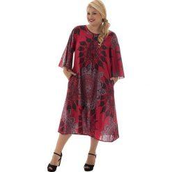 Odzież damska: Sukienka w kolorze czerwono-czarno-szarym