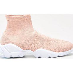 Buty sportowe damskie: Sportowe buty z elastyczną cholewką - Kremowy