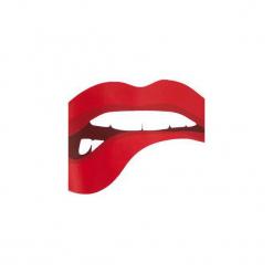 Bluza Red Lips Crop. Białe bluzy z nadrukiem damskie Harp Team, s, z bawełny, z krótkim rękawem, krótkie. Za 99,00 zł.