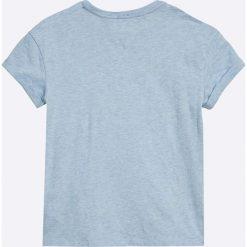 Tommy Hilfiger - Top dziecięcy 122-176 cm. Szare bluzki dziewczęce marki TOMMY HILFIGER, l, z aplikacjami, z bawełny, z okrągłym kołnierzem. W wyprzedaży za 99,90 zł.