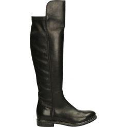 Kozaki ocieplane - 91002300 160N. Czarne buty zimowe damskie marki Kazar, ze skóry, na wysokim obcasie. Za 319,00 zł.