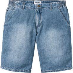 Bermudy dżinsowe Loose Fit z elastycznymi wstawkami po bokach w talii bonprix jasnoniebieski. Niebieskie bermudy męskie bonprix, z jeansu. Za 37,99 zł.