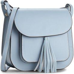 Torebka CREOLE - K10197  Błękitny. Niebieskie listonoszki damskie Creole, ze skóry. W wyprzedaży za 199,00 zł.