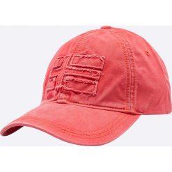 Napapijri - Czapka. Różowe czapki z daszkiem męskie marki Napapijri, z bawełny. W wyprzedaży za 119,90 zł.