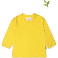 Koszulka w kolorze żółtym. Żółte bluzki dziewczęce bawełniane Toby Tiger, z okrągłym kołnierzem, z długim rękawem. W wyprzedaży za 42,95 zł.