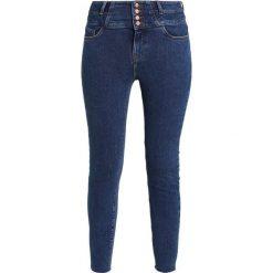 New Look HIGHWAIST PETAL Jeans Skinny Fit rinse. Czarne jeansy damskie relaxed fit marki New Look, z materiału, na obcasie. Za 139,00 zł.