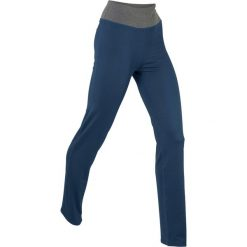 Spodnie sportowe ze stretchem, długie, Level 1 bonprix ciemnoniebieski. Niebieskie spodnie sportowe damskie bonprix, w paski. Za 49,99 zł.