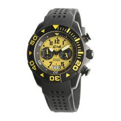 """Zegarki męskie: Zegarek """"W1.3"""" w kolorze czarno-żółtym"""