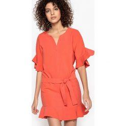 Sukienki hiszpanki: Krótka sukienka z falbanami CALLISTE