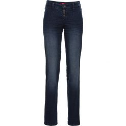 Dżinsy ze stretchem chino bonprix ciemnoniebieski. Niebieskie jeansy damskie bonprix. Za 89,99 zł.