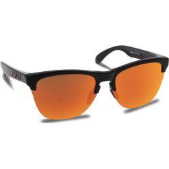 Okulary przeciwsłoneczne OAKLEY - Frogskins Lite OO9374-0463 Matte Black/Prizm Ruby. Brązowe okulary przeciwsłoneczne damskie aviatory Oakley. W wyprzedaży za 449,00 zł.