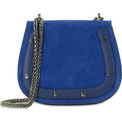 """Torebki klasyczne damskie: Skórzana torebka """"Amparo"""" w kolorze niebieskim – 20 x 17 x 8 cm"""