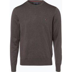 Swetry klasyczne męskie: Tommy Hilfiger – Sweter męski z dodatkiem jedwabiu, szary