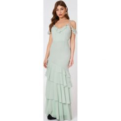 Sukienki hiszpanki: True Decadence Sukienka z falbankami – Green