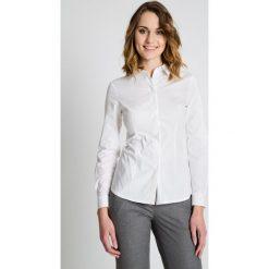 Bluzki asymetryczne: Klasyczna biała bluzka BIALCON