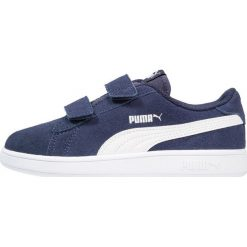 Puma SMASH V2 SD V PS Tenisówki i Trampki peacoat/white. Niebieskie trampki chłopięce Puma, z gumy. Za 169,00 zł.
