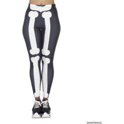 Legginsy: legginsy damskie fullprint halloween bones print