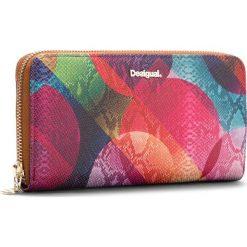 Duży Portfel Damski DESIGUAL - 18WAYP11 3016. Różowe portfele damskie Desigual, ze skóry ekologicznej. W wyprzedaży za 189,00 zł.