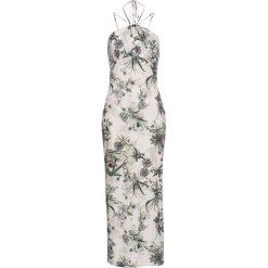 Sukienki: Sukienka bonprix biało-zielony wzorzysty