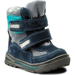 Buty zimowe chłopięce: Śniegowce RENBUT – 12-1463 Niebieski