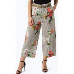 More & More - Spodnie damskie, zielony. Zielone spodnie z wysokim stanem More & More, z nadrukiem. Za 359,95 zł.