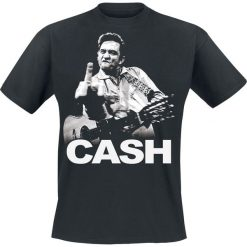 Johnny Cash Flippin T-Shirt czarny. Czarne t-shirty męskie Johnny Cash, s, z napisami. Za 89,90 zł.